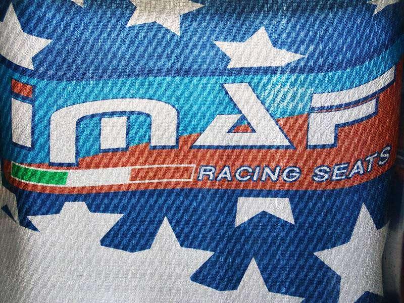 F6 aerografato dettaglio Karting seats imaf